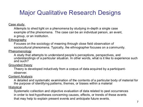research design is qualitative qualitative research designs