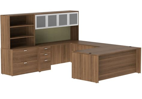 Cherryman Amber 71 U Group Executive Desk With Hutch And Storage Desk With Hutch
