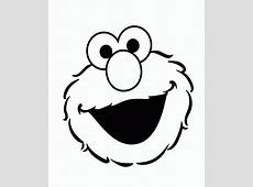 ELMO'S SONG Elmo Face Coloring Page