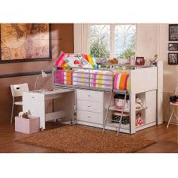 loft bed with storage storage loft bed with desk white walmart