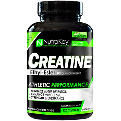 creatine no water retention nutrakey creatine ethyl ester 120 capsules