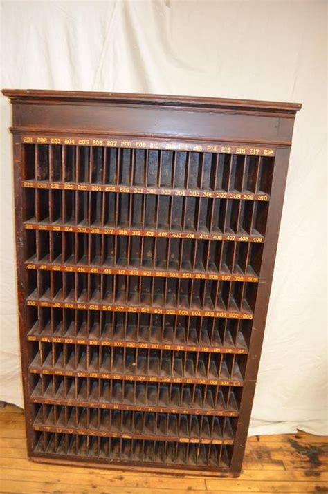 postal filing cabinet with numbered mail slots at 1stdibs