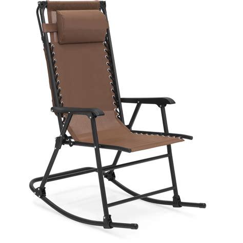 bcp folding  gravity mesh rocking chair  sunshade canopy steel frame ebay