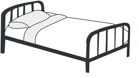 black and white futon free clip art bed clipart best