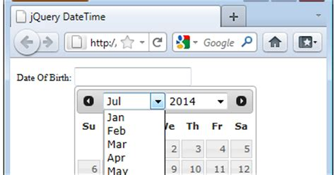 P Calendar Validation Jquery Datepicker Calendar With Dropdown Month And Year In