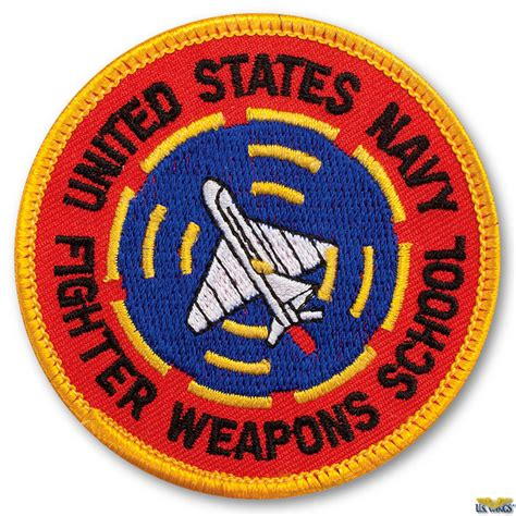 Black Tag White Patch Army Ready Stock us navy fighter weapon school patch