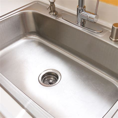 How To Clean Your Stainless Steel Sink Popsugar Smart Living How To Deodorize Kitchen Sink Drain