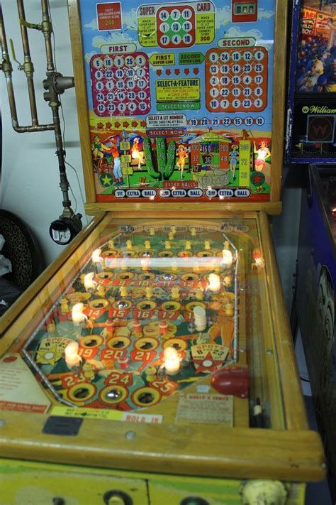 1950 s bally 25 dude ranch no flipper bingo pinball