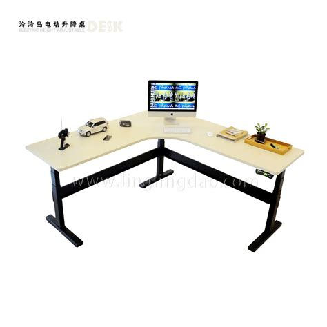 3 Legged Electric Height Adjustable Desk Office Desk Adjustable Height Computer Desk Workstation