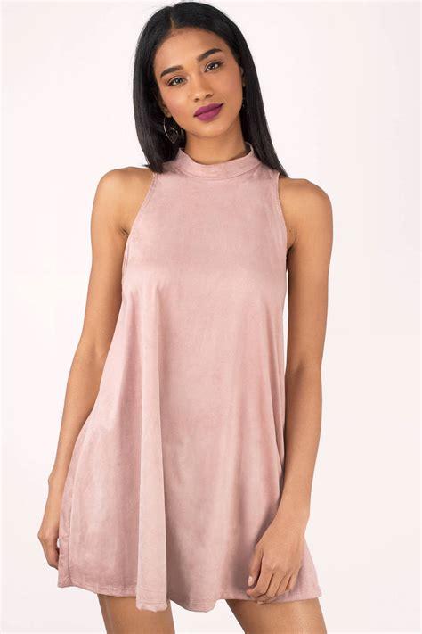 sleeveless dress beige dress sleeveless dress mock neck dress mini