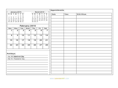 printable planner february 2015 february 2015 calendar blank printable calendar template