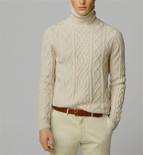 mens cable knit turtleneck sweater turtleneck cable knit sweater new from massimo dutti