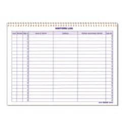 standard visitor log book security log book seton canada