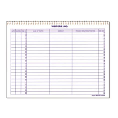 test and tag log book template standard visitor log book security log book seton canada
