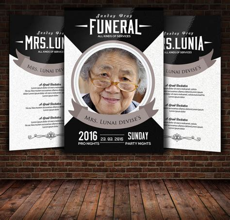 memorial card template photoshop free free photoshop funeral program templates 187 designtube