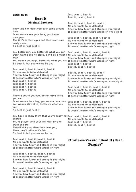 the book report lyrics michael jackson beat it lyrics