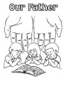 prayer coloring pages lord s prayer coloring pages