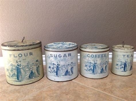 vintage kitchen canisters orange coffee sugar tin canisters 83 best images about old canister sets on pinterest