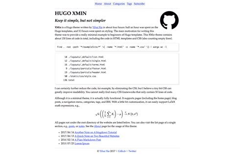 themes of hugo hugo themes hugo xmin