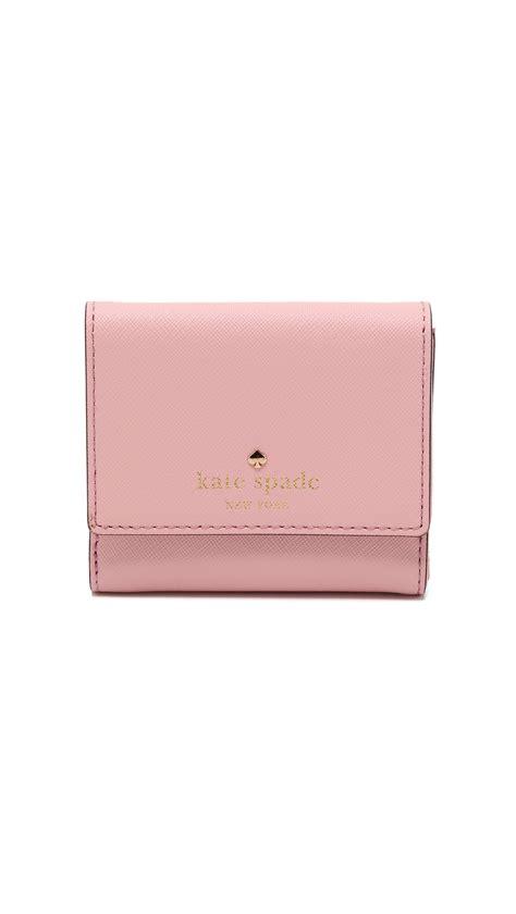 Katee Spadee 4in kate spade new york tavy wallet jade in pink lyst