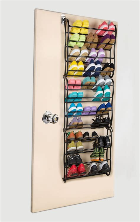 36 pair over the door hanging shoe rack shelf organizer 36 pair over the door hanging shoe rack 12 tier shoe rack