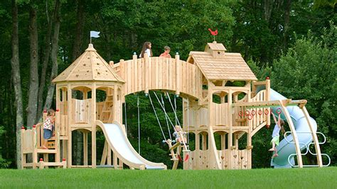 swing works play playsets from cedarworks habitat kid