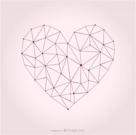 geometric layout design vector vector heart geometric design vector free download