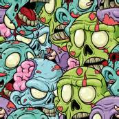 zombie pattern fabric zombies fabric wallpaper gift wrap spoonflower