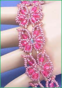 Beading And Jewelry Making Supplies - 05 416 pink and crystal bicone seed bead butterfly bracelet