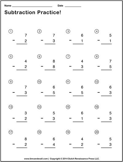 printable simple division worksheets simple subtraction worksheets for students and teachers