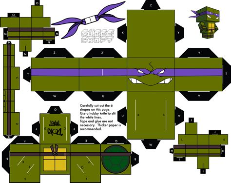 Cubeecraft Papercraft - 2003 donatello by cubeecraft on deviantart