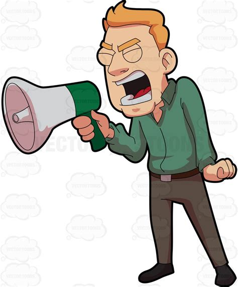 clipart yelling person shouting clipart clipground