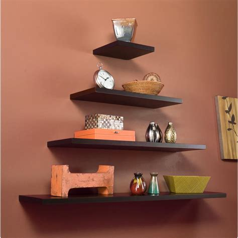 madison decorative wall ledge shelf set of 3 espresso 100 espresso wall shelves dover floating wall shelves