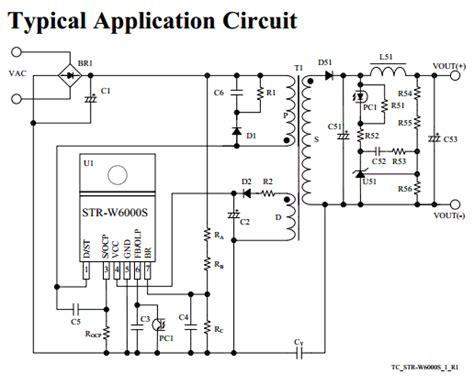 Regulator Power Suply Tv 14 21 strw6052s datasheet pdf sanken electric co ltd