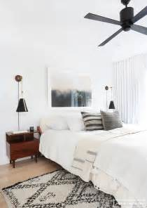 Ceiling Fan Above Bed Bedroom On Headboards Bedrooms And Bedding