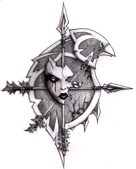 tattoo freehand pen will of the forsaken by kryss on deviantart
