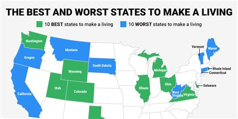 The Best And Worst States To Make A Living Business Insider | the best and worst states to make a living business insider