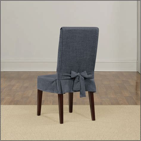 Short Linen Dining Chair Covers Chairs Home Decorating Linen Dining Chair Covers