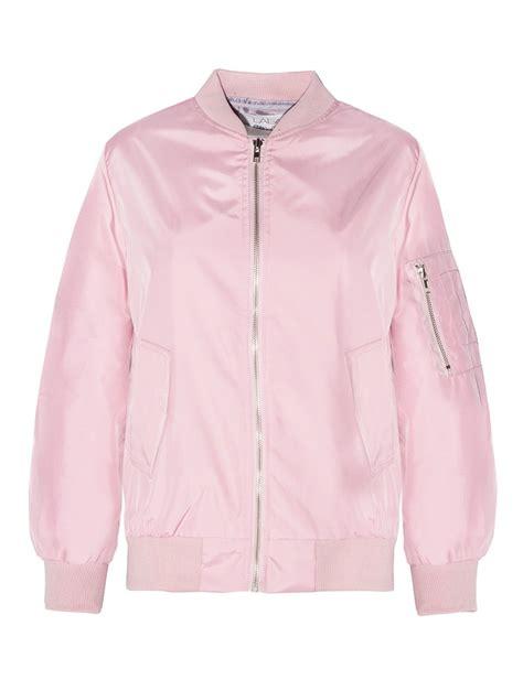 Pink Jaket 1 pixie market satin bomber jacket in pink lyst