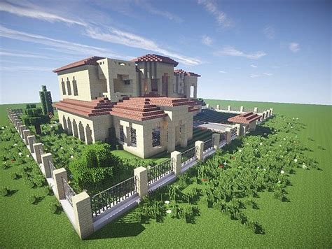 minecraft great house designs california mansion minecraft house design