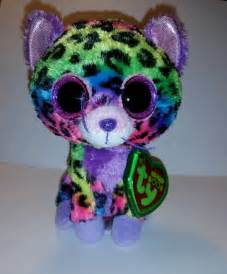 ty beanie boo trixie rainbow leopard 6 quot justice exclusive 2014 mwmt tag case ty beanie tags