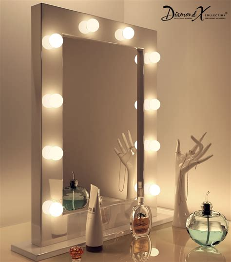 room mirror high gloss white make up theatre dressing room mirror k113 ebay