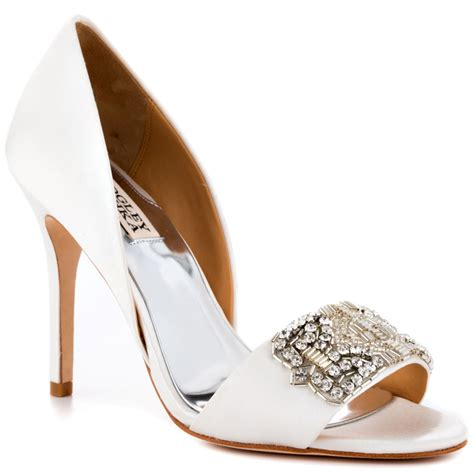 white satin shoes badgley mischka alessandra white satin shoes for
