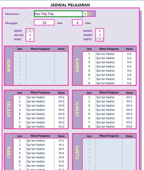 apakah bisa membuat npwp hari sabtu excelheru jadwal pelajaran sekolah maks 15 kelas di excel