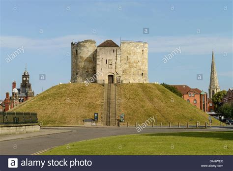 centre uk cliffords tower york city centre uk stock photo royalty