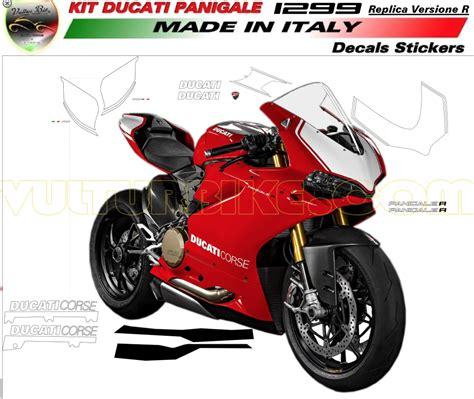 Ducati 1199 Sticker Kit by Vulturbike Ducati Panigale 1299 R Decal Sticker Kit