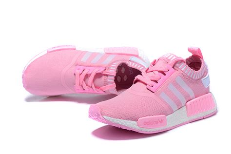 adidas nmd runner shoes pink white