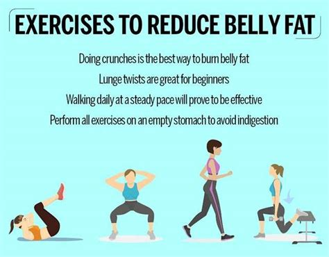 exercises to reduce belly femina in