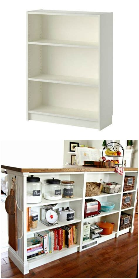 billy bookcase hack turn you short billy bookcase into a double duty kitchen