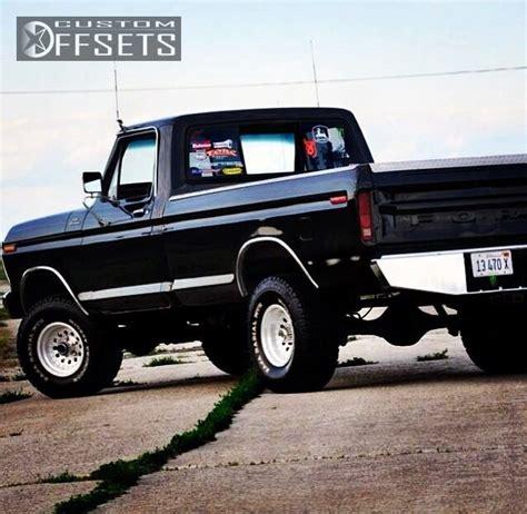 2003 ford truck f150 1 2 ton p u 2wd 4 2l fi ohv 6cyl wheel offset 1979 ford f 150 1 2 ton p u 4wd aggressive 1 outside fender body lift 3 custom rims